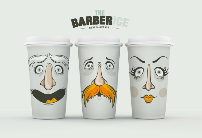 Ice cream brand design Barberice - branding / illustration - 2014