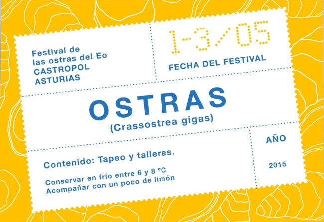Poster and brochure Festival Ostras del Eo - poster / publishing design - 2015