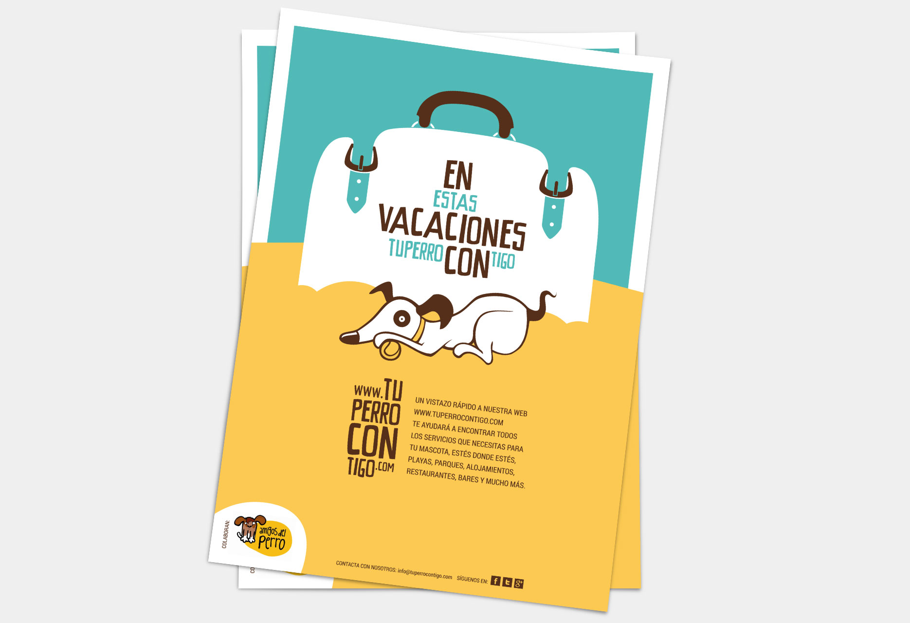 Design of brand and website Tu perro contigo - poster / web design / branding / illustration - 2010
