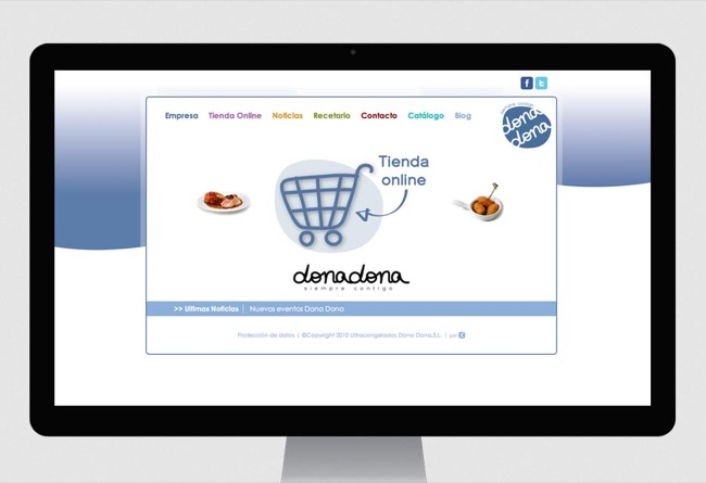 On-line store and corporate website Ultracongelados Dona Dona - e-commerce / web development / web design / CMS - 2013