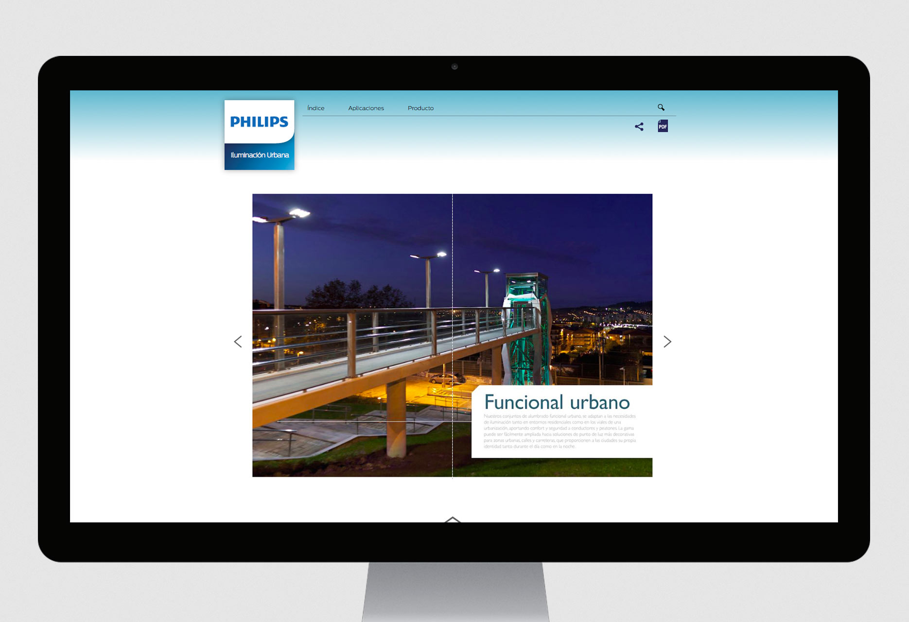 On-line web catalog Philips  E-Catalog - web development / CMS - 2015