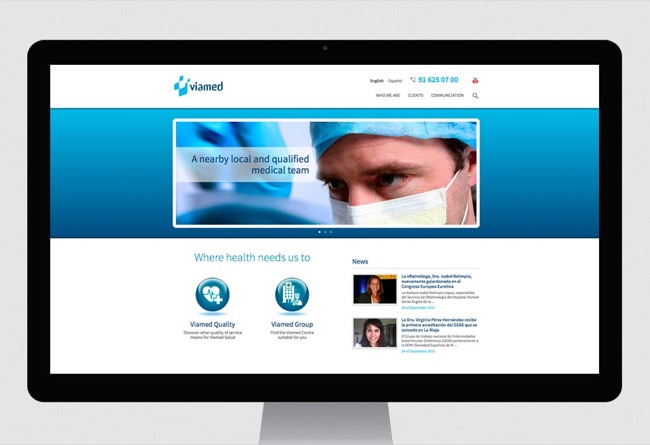 Corporate websites Webs Grupo Viamed - web development / CMS - 2012